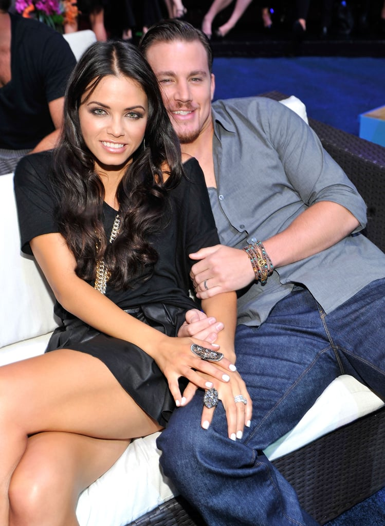 Jenna Dewan lounged with Channing Tatum at the 2010 Teen Choice Awards in LA.