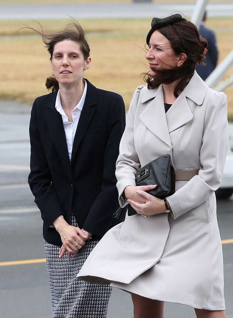 The private secretaries: Rebecca Deacon (pictured above with Maria) was hired in 2012 to be Kate's personal assistant. Rebecca can often be seen by Kate's side at public events and has joined the group on their latest tour. William's private secretary, Miguel Head, who was appointed to the role in 2012 after he served as assistant press secretary, is also overseas with the couple.   Additional staff: Kate and William are also being accompanied by three press officers, a tour secretary, and an orderly to help manage the logistics. Kate and William's official staff is fully funded by Prince Charles through the Duchy of Cornwall estate.