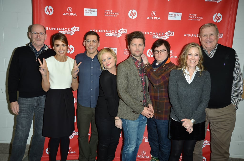 Richard Jenkins, Jessica Alba, Stu Zicherman, Amy Poehler, Adam Scott, Clark Duke, Catherine O'Hara, and Ken Howard attended the premiere for A.C.O.D..