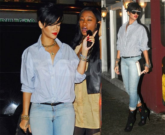 Rihanna Goes to Dinner