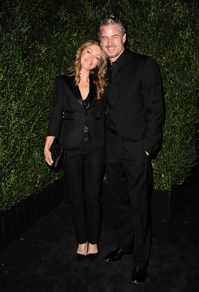 Eric Dane and Rebecca Gayheart smiled on the carpet.