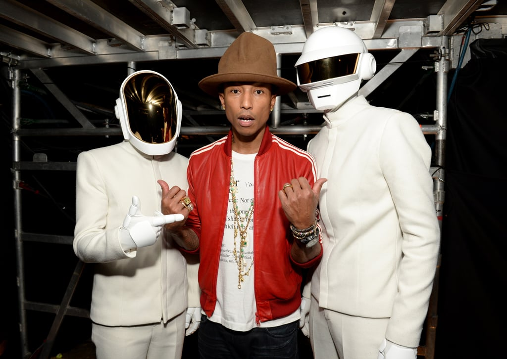 Pharrell was in the middle of a Daft Punk sandwich.