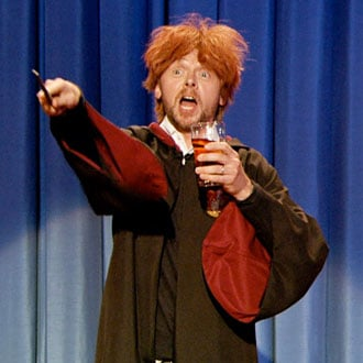 Simon Pegg as Drunk Ron Weasley