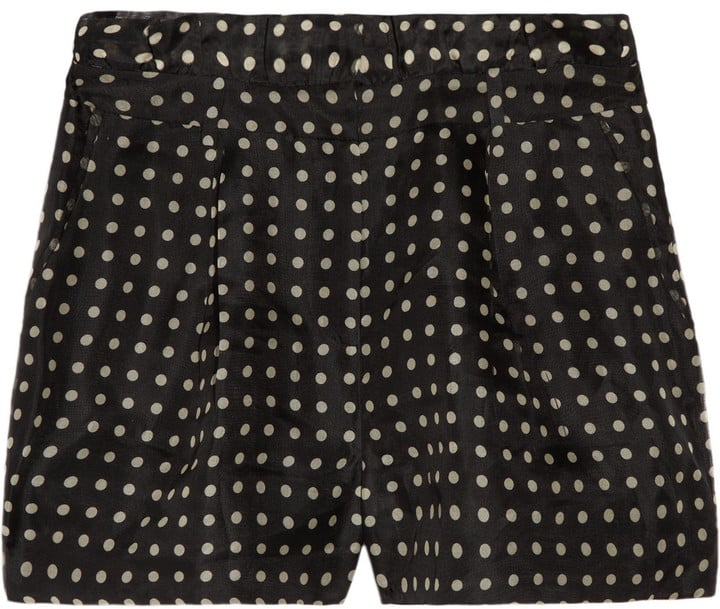 These retro-cool shorts pretty much require a sweep of hot pink lipstick.  J.Crew High-Waisted Silk Organza Shorts ($160)