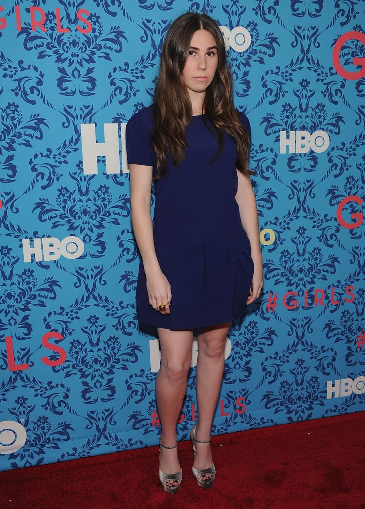Zosia Mamet, who stars in HBO's Girls, at the premiere in NYC.