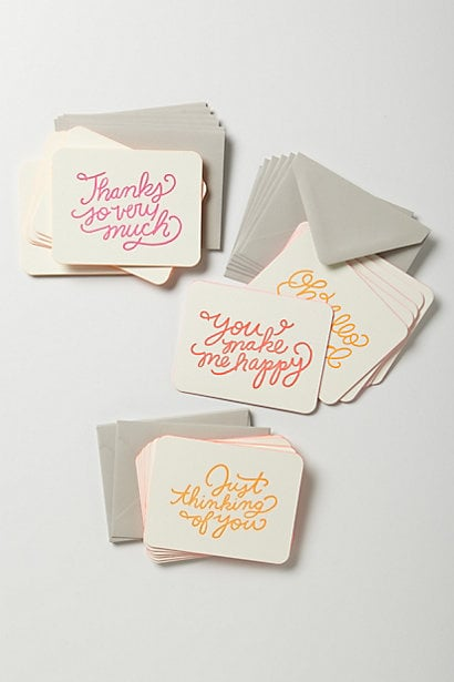 Don't moms just love sending cards? Why not give yours Moglea Every Occasion Note Card Set ($22)? Every time she sends one out, she'll think of you.