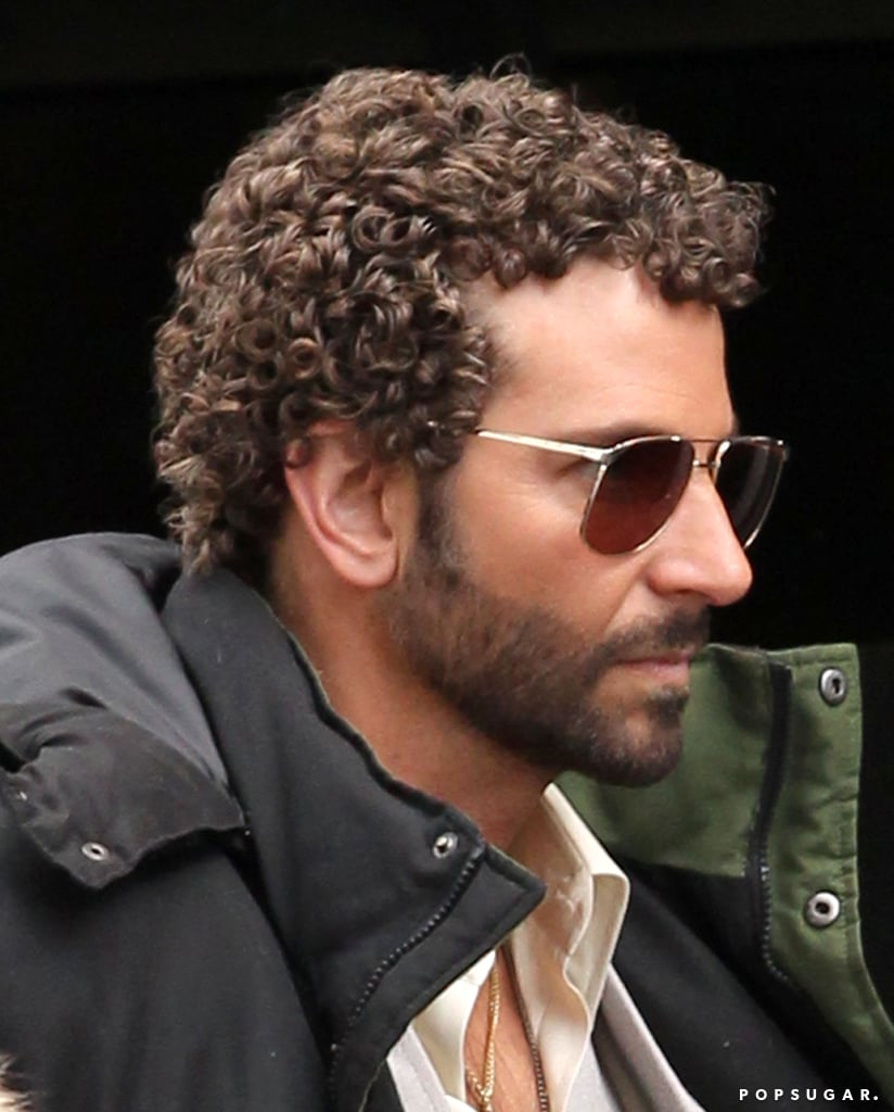Bradley Cooper sported tight curls on the set of his untitled David O. Russell film.