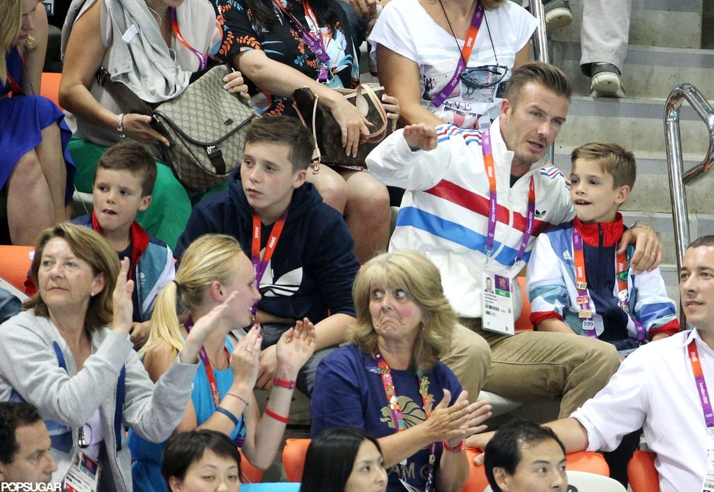 David Beckham Watches Olympic Diving