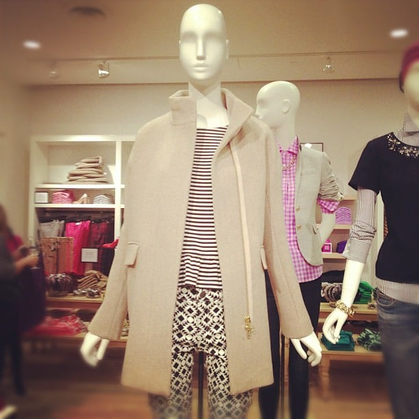 A J.Crew coat with classic lines is the perfect finishing touch to a late-Fall look.