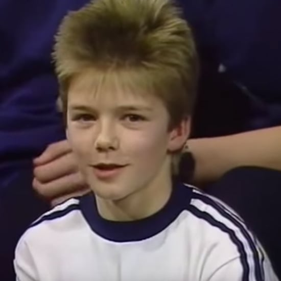 Video of Young David Beckham on Thames TV