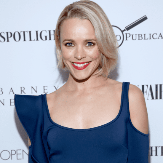 Rachel McAdams Wearing a Blue Dress February 2016