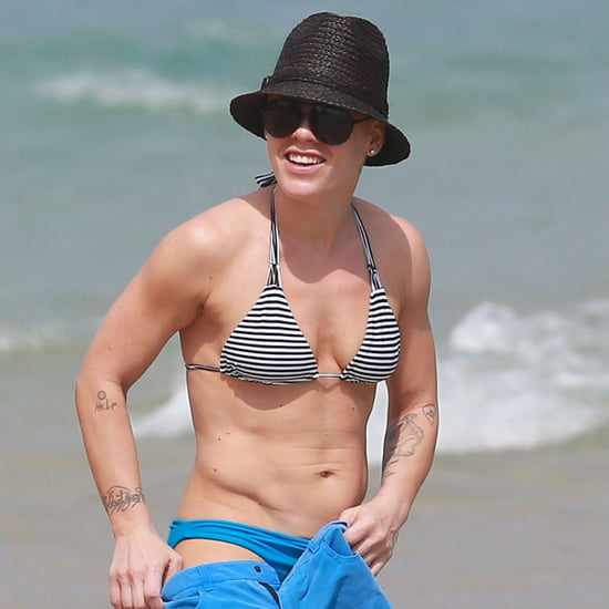 Pink Wearing a Bikini in Miami With Her Family   Pictures