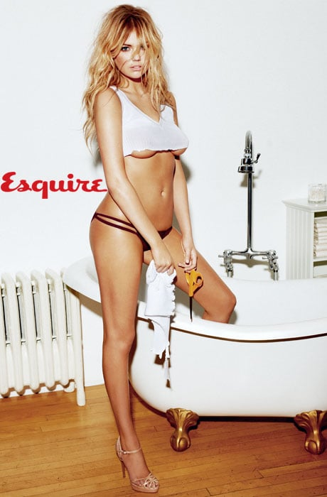 Kate Upton wearing lingerie in Esquire.