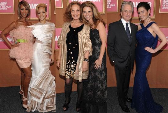 Photos of Rihanna, Catherine Zeta Jones, Stella McCartney, Tyra Banks at Glamour Women of the Year Event in NYC