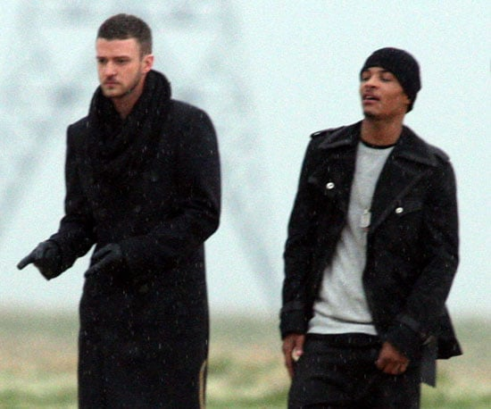 Photo of Justin Timberlake and TI Filming a Music Video