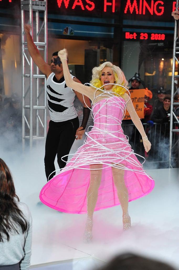 Meredith Vieira as Lady Gaga in 2010