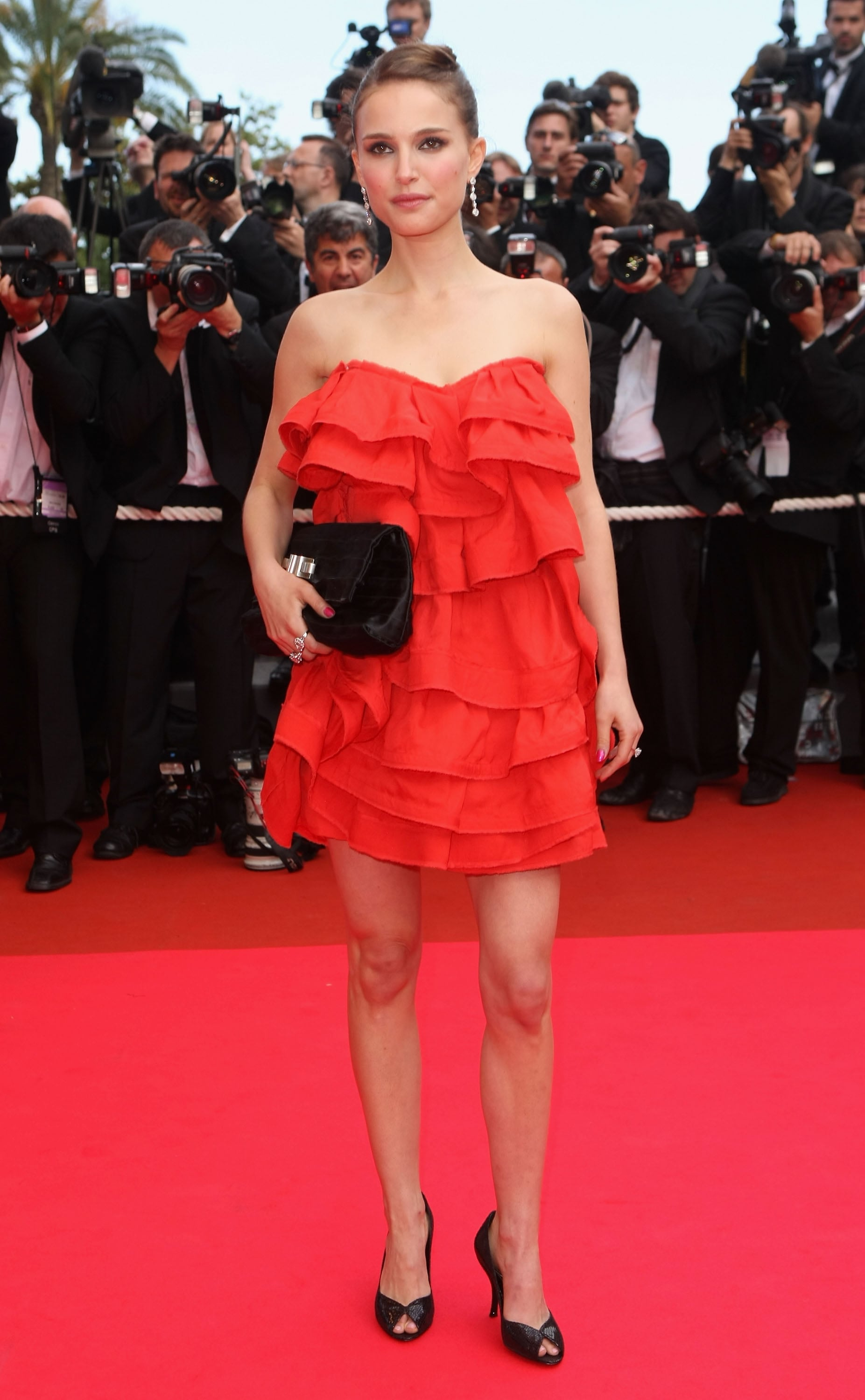 Natalie Portman matched the red carpet at the premiere of Che during the 61st Cannes Film Festival in 2008.