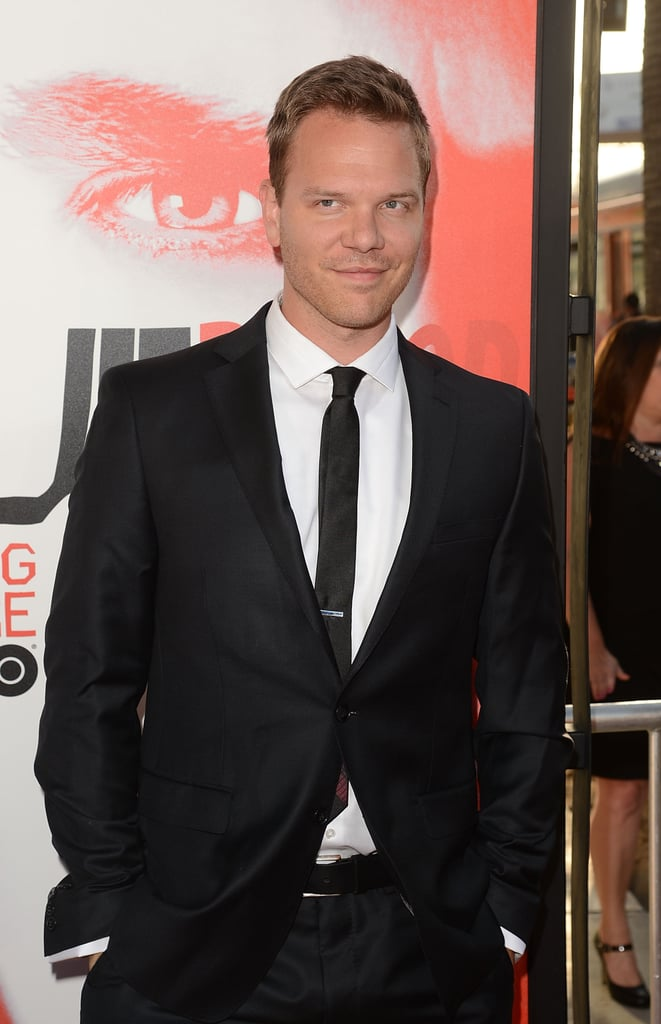 Jim Parrack looked handsome in a suit at the True Blood season five premiere.