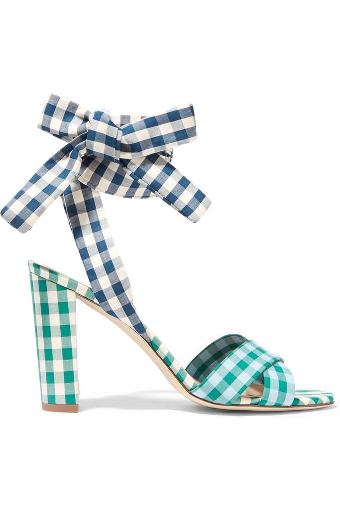 J.Crew Charlotte gingham poplin sandals ($240)