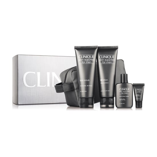 Introduce your guy to skin care that moves beyond a simple bar of soap. The Clinique Great Skin For Him kit ($48) includes a face scrub, shave gel, aftershave, and eye cream. You'll have to provide the step-by-step tutorial yourself.