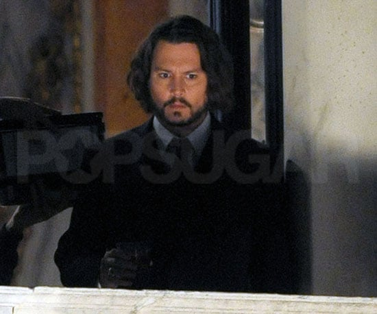 Slide Photo of Johnny Depp on Set of The Tourist in Venice