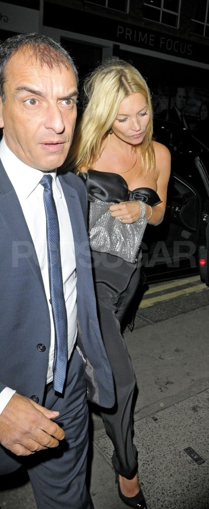 Kate Moss in an Azzaro jumpsuit.