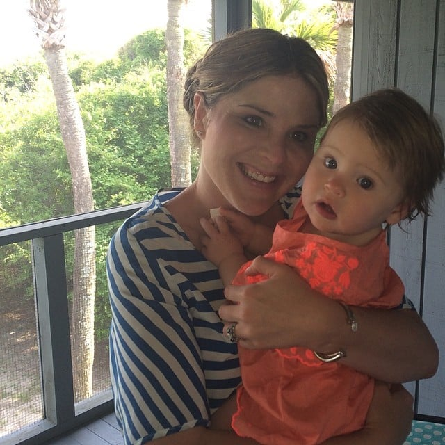 "Jenna Bush Hager celebrated her first Mother's Day with her ""duck,"" Mila. Source: Instagram user jennabhager"