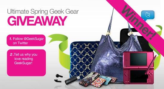 GeekSugar Giveaway Winner