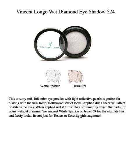 Frosted Eyes With Vincent Longo's Wet Diamond Eye Shadow