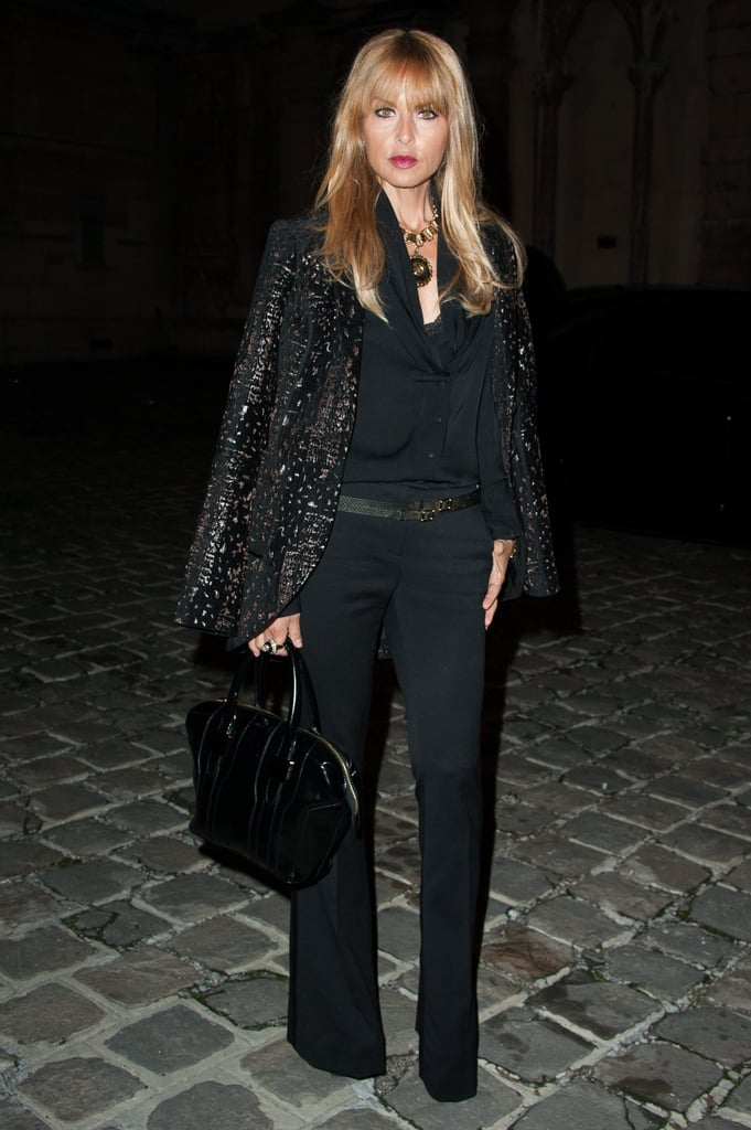 Rachel Zoe approached the Lanvin show in all black.