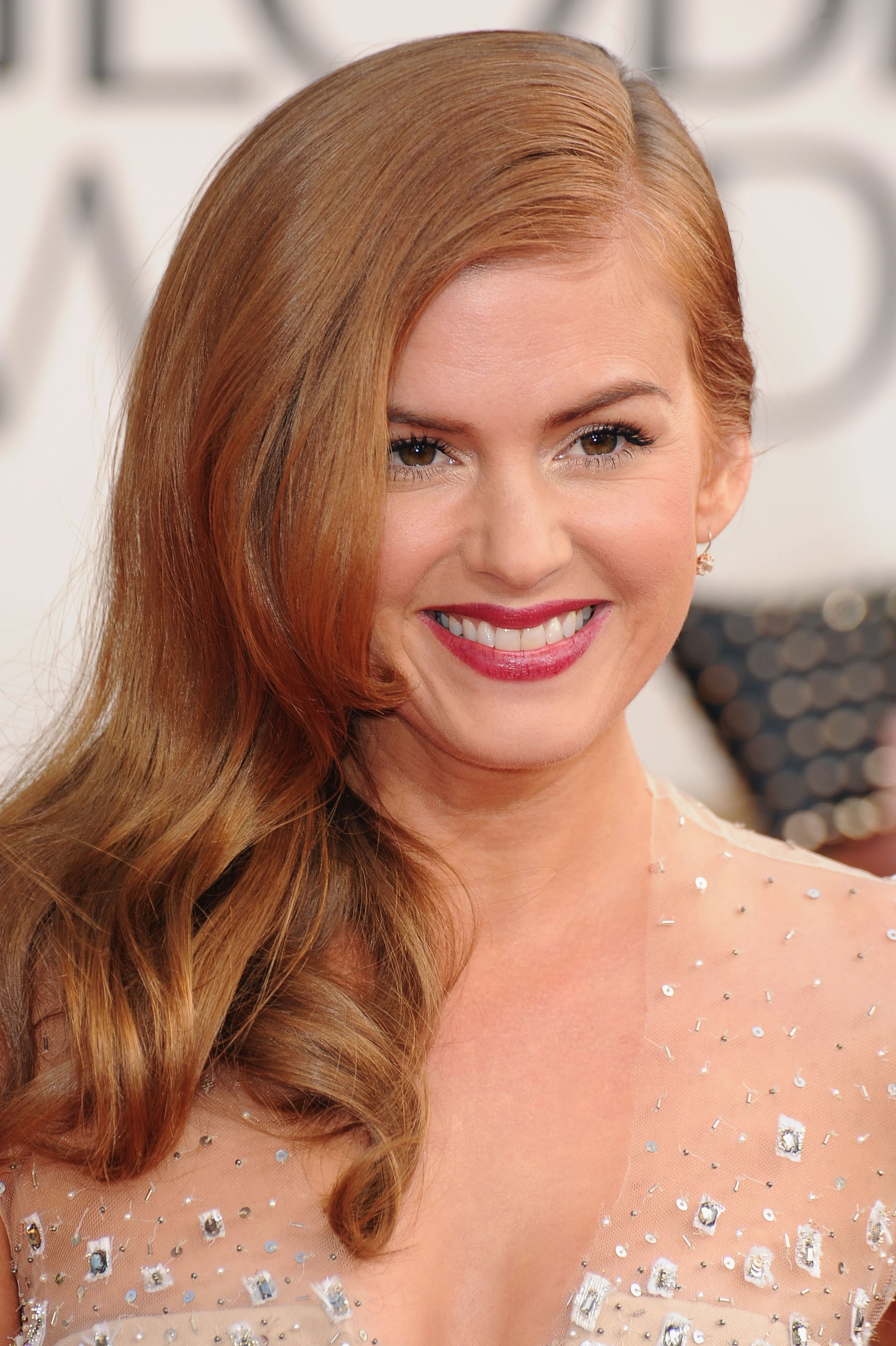 Isla Fisher Golden Globes Beauty See The Best Hair And