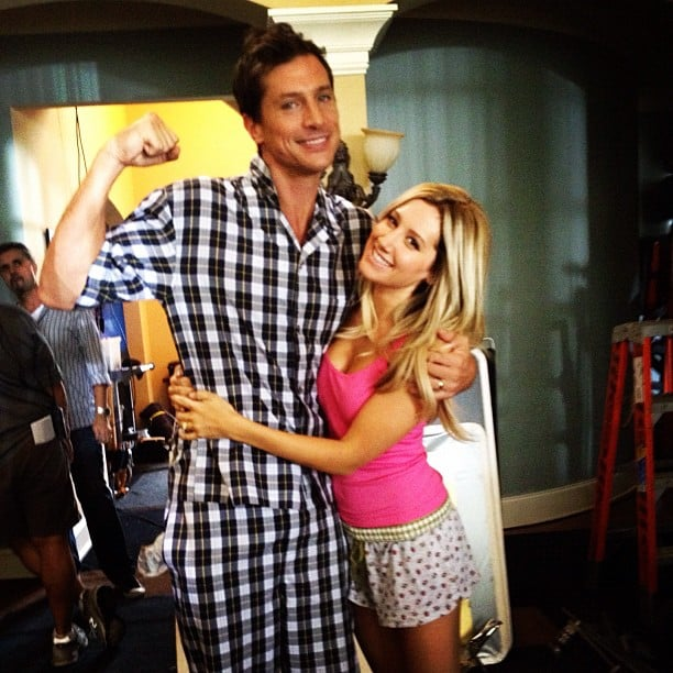 Ashley Tisdale and Simon Rex shot scenes for Scary Movie 5. Source: Instagram user ashleytis