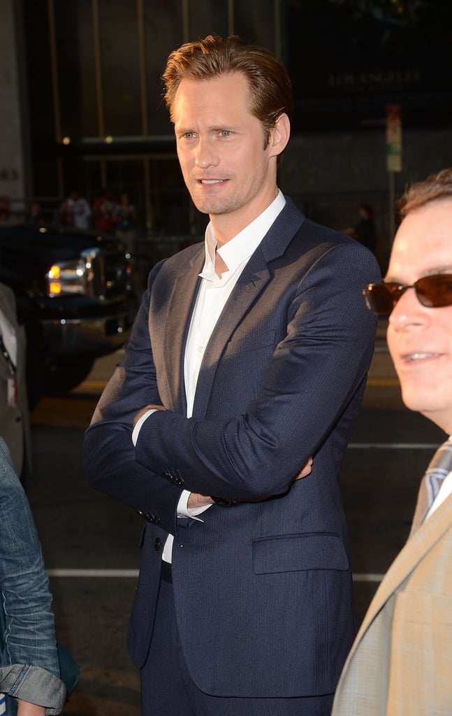 Alexander Skarsgard arrived at the event looking handsome as ever.