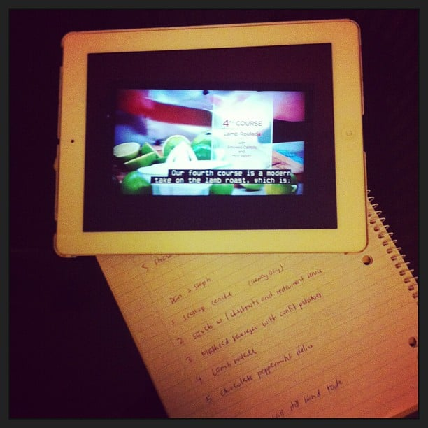 Jess took some notes while she watched the grand final of My Kitchen Rules, in preparation for her interview with the winners.
