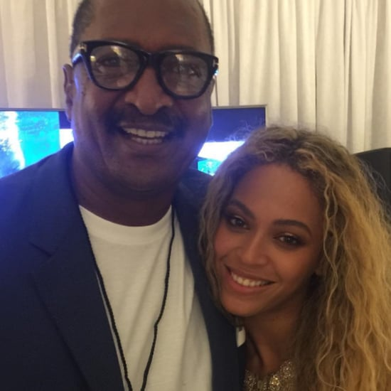 Beyonce With Her Dad Picture May 2016