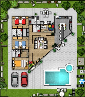Map your furniture arrangement before you move with for Virtual furniture arrangement
