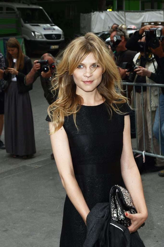 Clémence Poésy wore all black to the Chanel show in Paris.