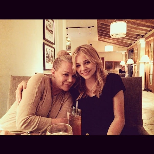 """Chloë Moretz has a message for her mom, Teri, in her caption: """"I know we give you hell sometimes but we love you more than anything.""""  Source: Instagram user cmoretz"""