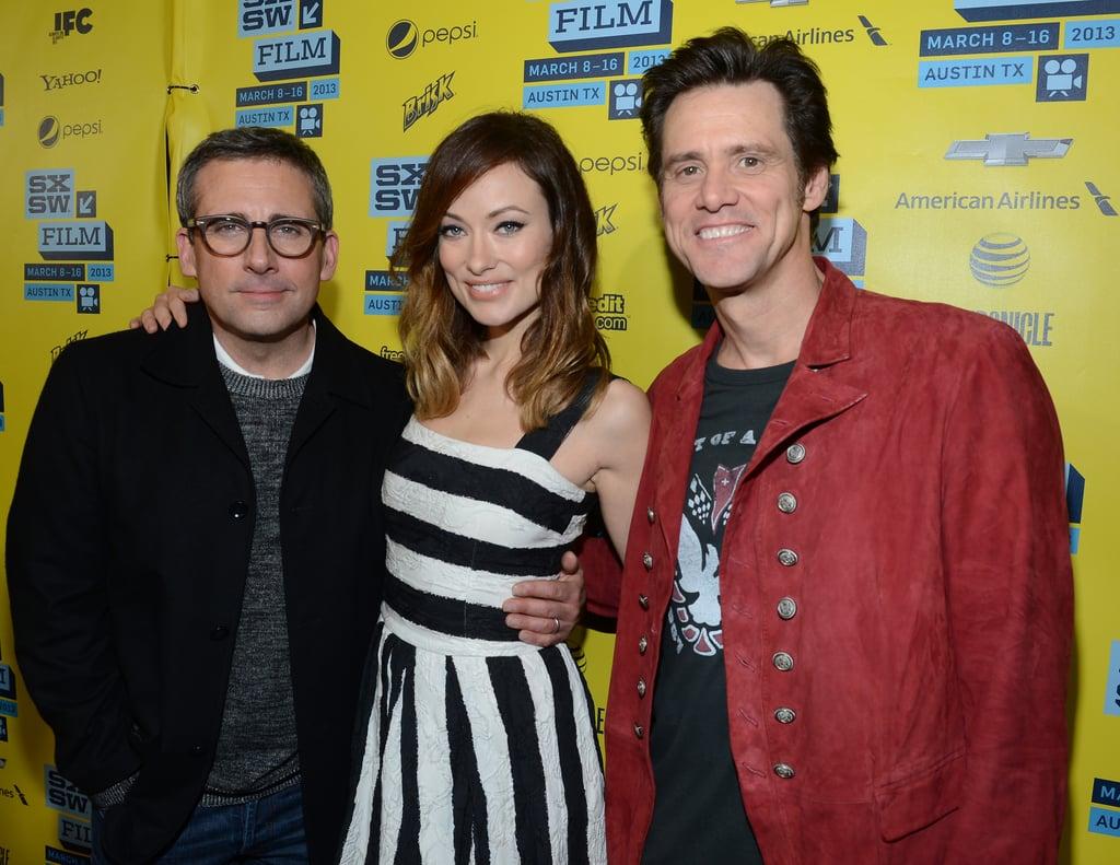 Steve Carell, Olivia Wilde, and Jim Carrey met up at SXSW.