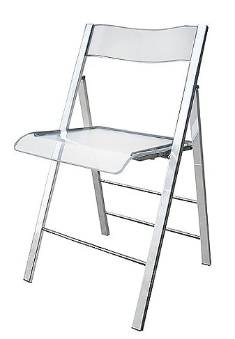 Steal of the Day: Lucite Fold-Away Chair