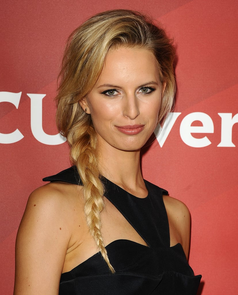 Undone on top, polished on the bottom; Karolina Kurkova's beautiful braid from the 2013 TCA Winter Press Tour can be worn for pretty much any occasion.