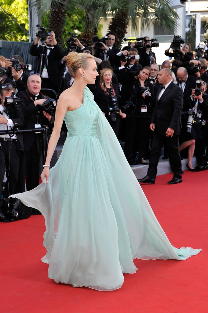 Diane Kruger showed off her flowing gown at the opening of the Cannes Film Festival and premiere of Moonrise Kingdom.