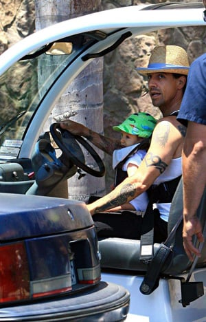 Anthony Kiedis with Son Everly Bear