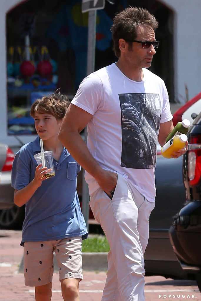 David Duchovny and his son, Kyd, grabbed a drink in Malibu.