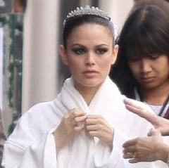 Pictures of Rachel Bilson Shooting a Commercial With Karl Lagerfeld in Paris
