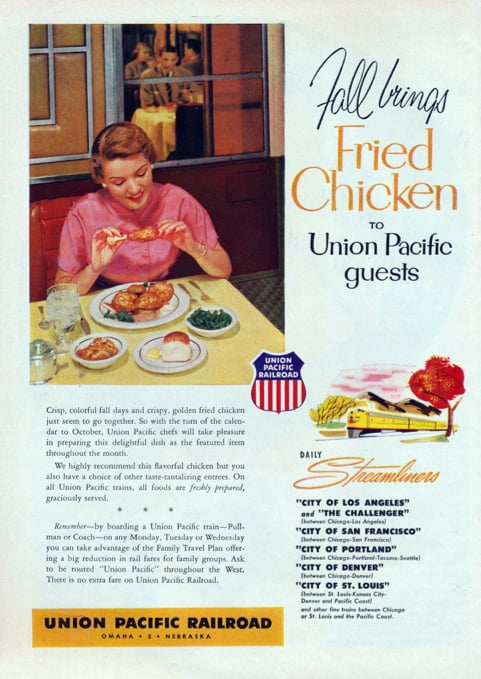"""""""Fall brings fried chicken"""" . . . and sad, lonely dinners."""