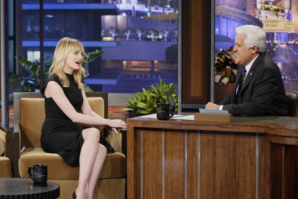 Emma Stone made an appearance on The Tonight Show.