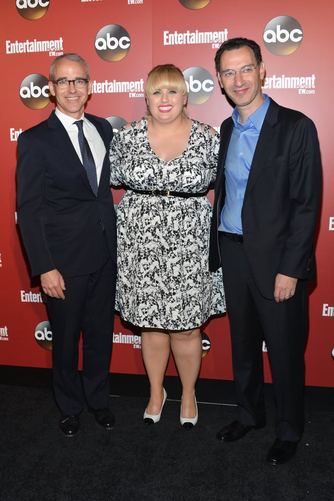 Rebel Wilson was all smiles with ABC President Paul Lee and Entertainment Weekly editor Jess Cagle.
