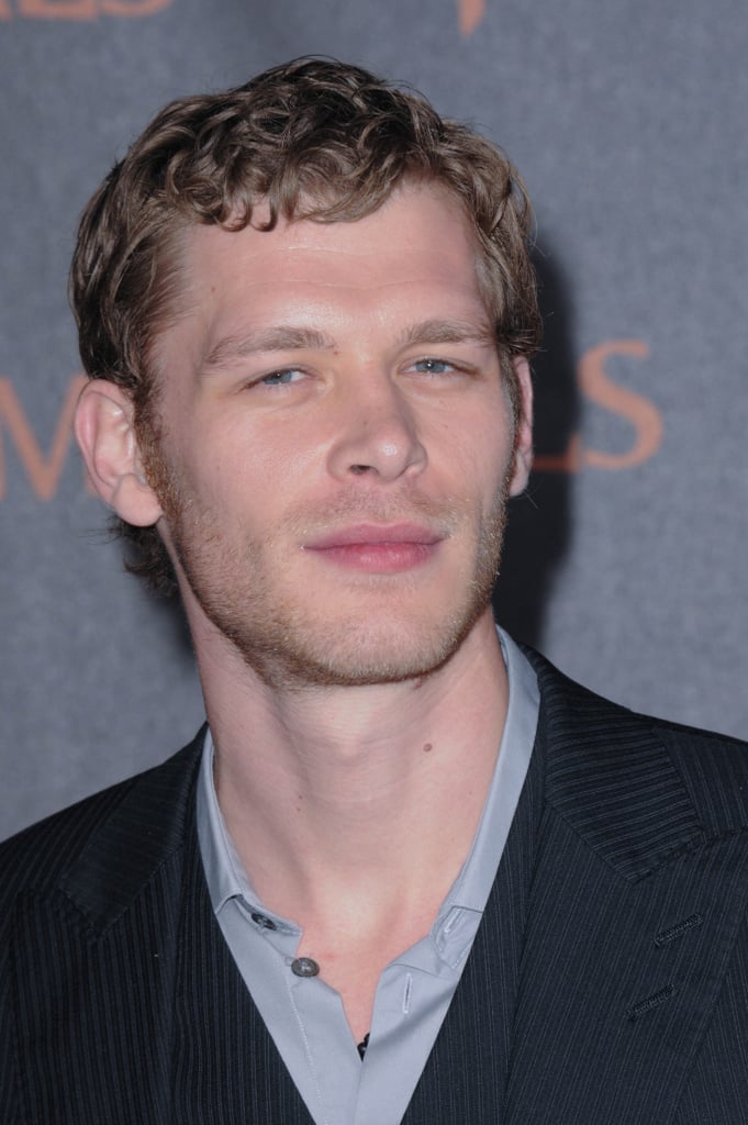Joseph Morgan took a serious stare while on the red carpet.