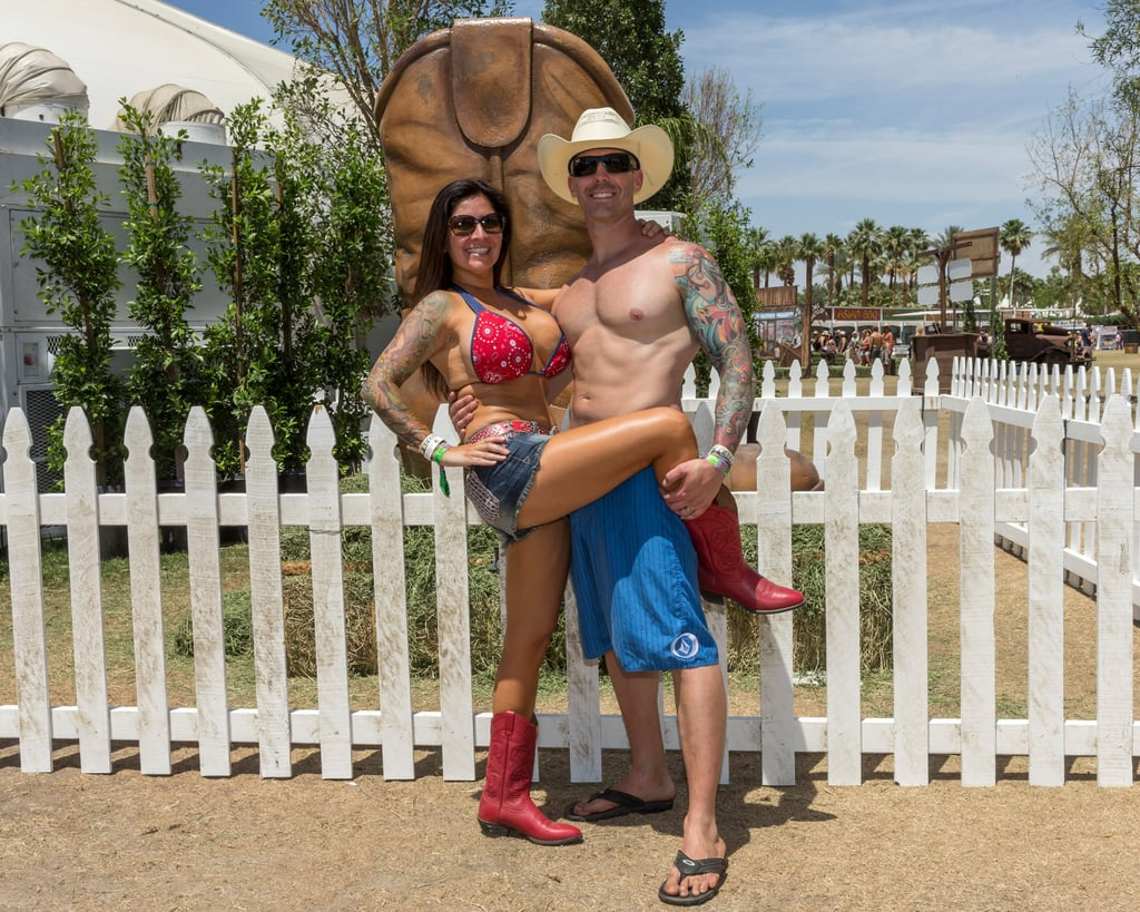 A pair posed at Stagecoach in 2014.